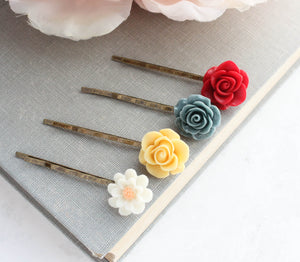 Flower Bobby Pins - BP1102