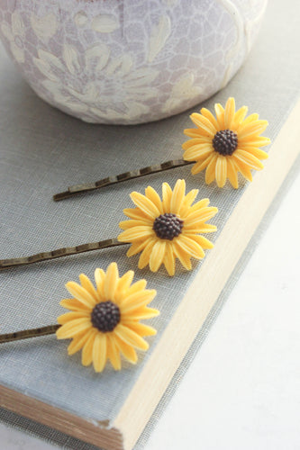 Sunflower Bobby Pins NEW
