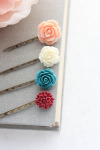 Flower Bobby Pins - BP1101