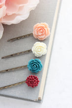 Load image into Gallery viewer, Flower Bobby Pins - BP1101