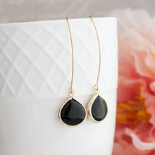 Load image into Gallery viewer, Candy Jewel Earrings  - Jet Black