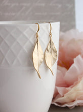 Load image into Gallery viewer, Curled Leaf Earrings - Silver