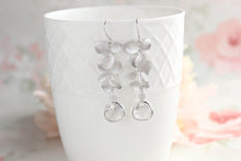 Load image into Gallery viewer, Silver Orchid Earrings (10 Glass colors)