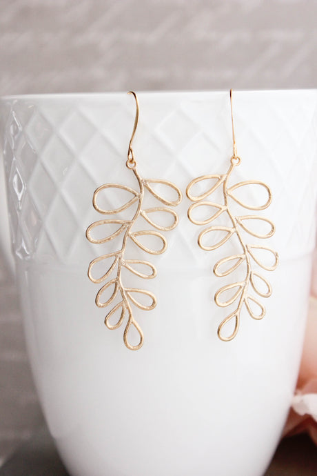 Loopy Leaf Branch Earrings