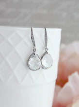 Load image into Gallery viewer, Sparkle Drop Earrings - Clear Glass