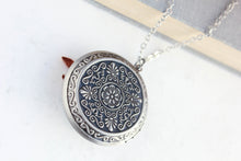 Load image into Gallery viewer, Big Fox Locket - Copper and Silver