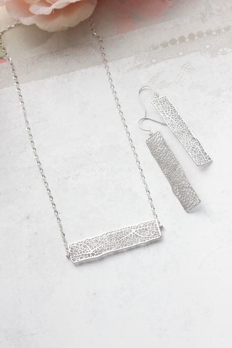 Long Bar Filigree Necklace