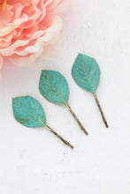 Load image into Gallery viewer, Leaf Bobby Pins - 3 Color Options