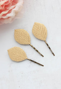Leaf Bobby Pins - Rose Gold