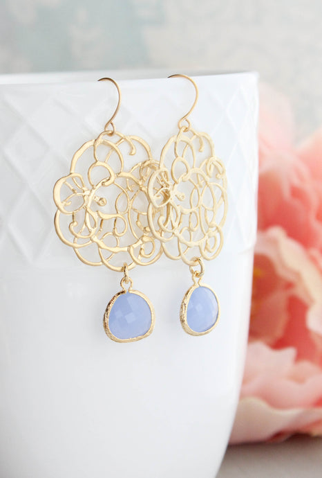 Gold Boho Filigree Earrings - 12 Colors