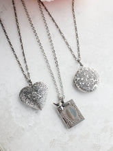 Load image into Gallery viewer, Antiqued Silver Heart Locket