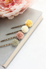 Load image into Gallery viewer, Flower Bobby Pins - BP1020