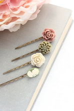 Load image into Gallery viewer, Floral Bobby Pins - BP1104