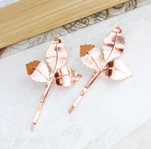 Load image into Gallery viewer, Rose Gold Branch Hair Pins (Set of 2)