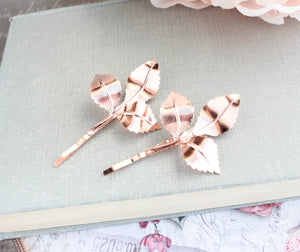 Rose Gold Branch Hair Pins (Set of 2)