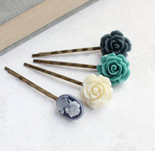 Load image into Gallery viewer, Flower Bobby Pins - BP1250