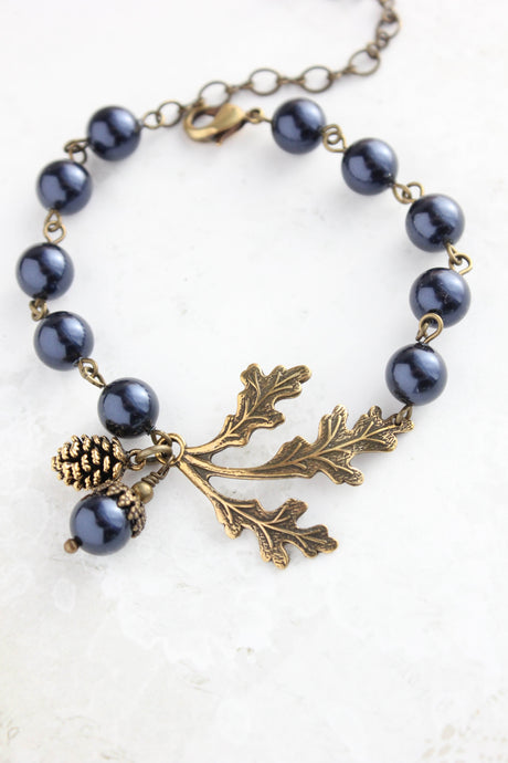 Nature Charm Bracelet - Midnight Blue