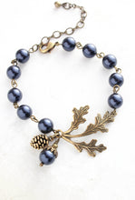 Load image into Gallery viewer, Nature Charm Bracelet - Midnight Blue