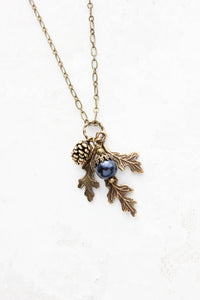 Nature Charm Necklace - Midnight Blue