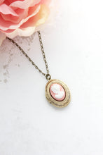 Load image into Gallery viewer, Lady Cameo Locket - Pink
