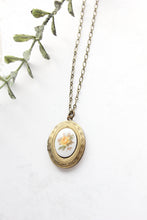 Load image into Gallery viewer, Yellow Rose Cameo Locket NEW
