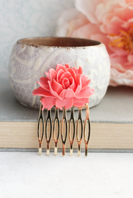 Coral Pink Rose Comb - C2004 NEW