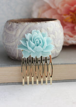 Load image into Gallery viewer, Light Blue Rose Comb - C2006 NEW