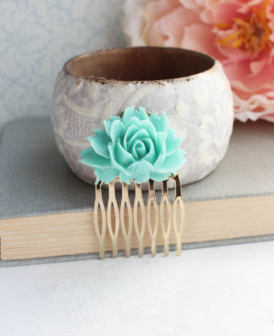 Teal Rose Comb - C2009 NEW