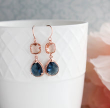 Load image into Gallery viewer, Sparkle Drop Earrings Rose | Peach | Blue