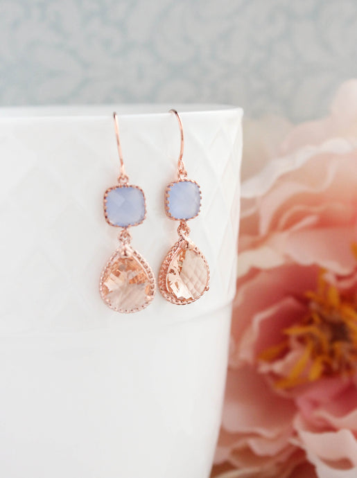 Sparkle Drop Earrings Rose | Blush | Periwinkle