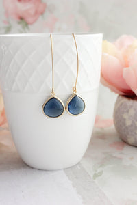 Candy Jewel Earrings  - Navy