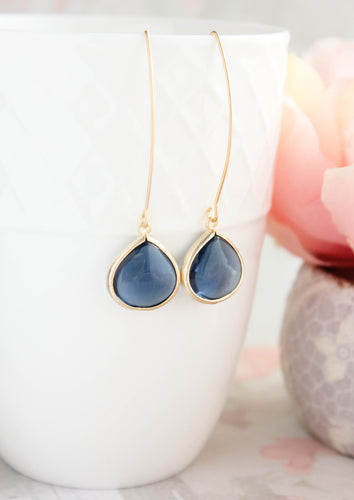 Candy Jewel Earrings  - Navy NEW