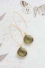 Load image into Gallery viewer, Candy Jewel Earrings  - Khaki Green