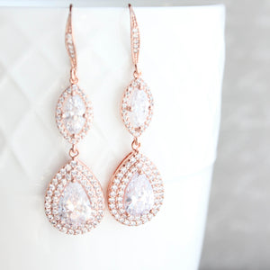 Gold Sparkly Bridal Earrings