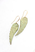Load image into Gallery viewer, Absinthe Patina Wing Earrings