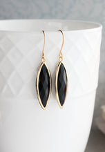 Load image into Gallery viewer, Marquis Drop Earrings - Black
