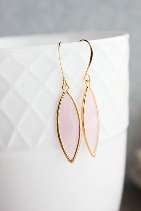 Marquis Drop Earrings - Pink NEW