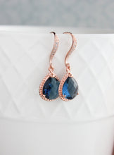 Load image into Gallery viewer, Sparkle Drop Earrings - Montana Blue
