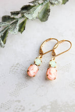 Load image into Gallery viewer, Little Pink Cameo Earrings