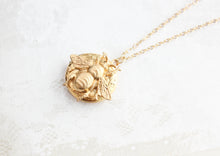 Load image into Gallery viewer, Bee Locket Necklace