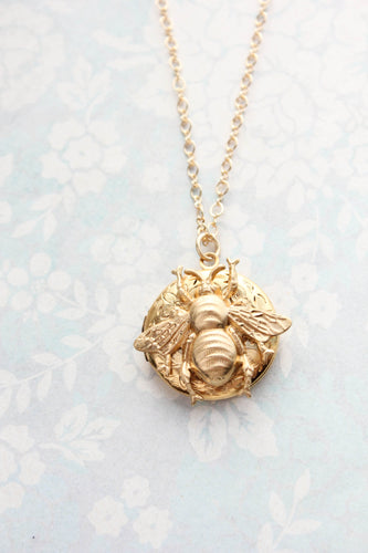 Bee Locket Necklace NEW