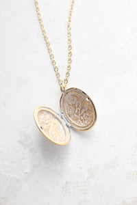 Patina Gold Oval Locket