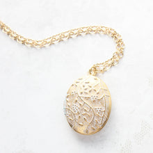 Load image into Gallery viewer, Patina Gold Oval Locket