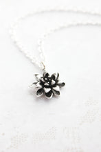 Load image into Gallery viewer, Lotus Necklace - Antiqued Silver