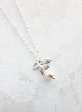 Load image into Gallery viewer, Silver Orchid Necklace