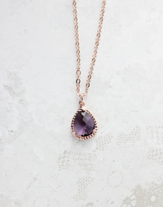 Sparkle Jewel Necklace - Amethyst