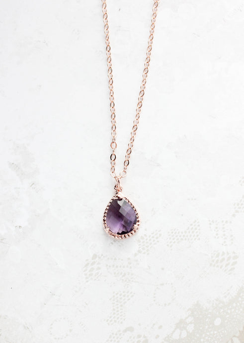 Sparkle Jewel Necklace - Amethyst NEW