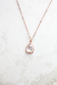 Sparkle Jewel Necklace - Clear NEW