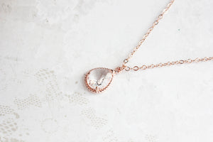 Sparkle Jewel Necklace - Clear