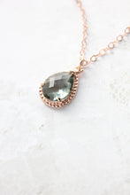 Load image into Gallery viewer, Sparkle Jewel Necklace - Smoke Grey NEW